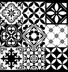 spanish tiles moroccan tiles design seamless bla vector image