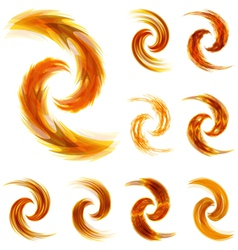 Sunny swirl elements for design vector image