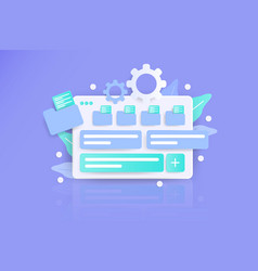 Task manager 3d modern awesome flat landing page vector