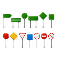 traffic road realistic signs signage signal vector image
