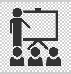 Training education icon in flat style people vector