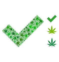 Yes mosaic of weed leaves vector