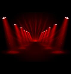 glowing red spotlights vector image vector image