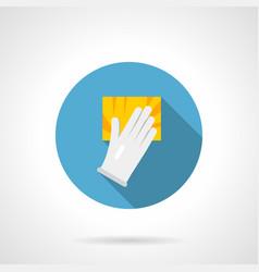 Hand and sponge flat round icon vector