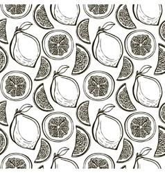 Hand drawn cute lemons pattern seamless vector image vector image