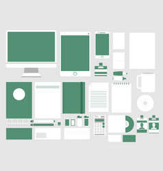 set in modern flat design of corporate style vector image vector image