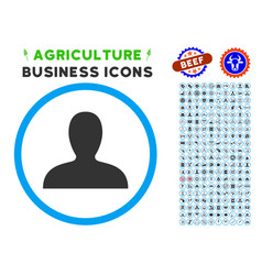 client rounded icon with set vector image vector image