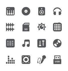DJ equipment icon set vector image vector image
