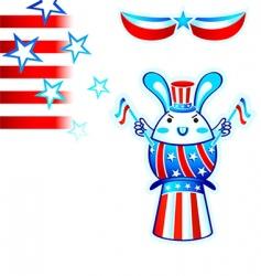 election rabbit vector image