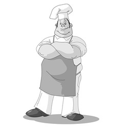 monochrome chef vector image