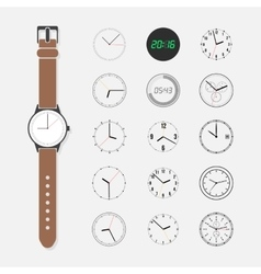Watch face set vector image vector image