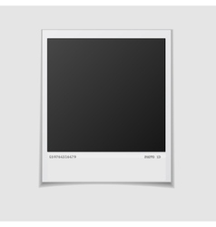 Blank photo frame isolated on white background vector image vector image