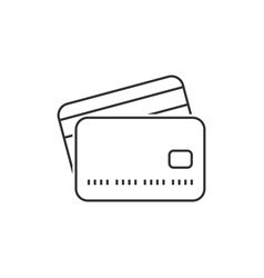 credit card outline icon vector image