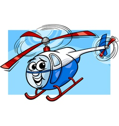 helicopter or chopper cartoon vector image vector image