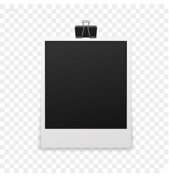 isolated photo frame vector image
