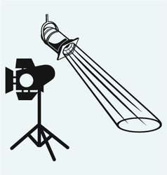 Overhead lights with beam vector image vector image