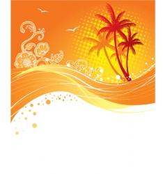 Palm curve vector
