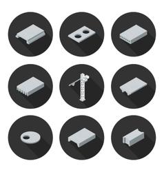 set of flat icons slab vector image