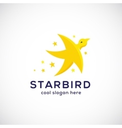 Star bird abstract symbol icon or logo vector