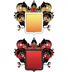coat of arms 2 colored vector image vector image