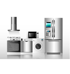 kitchen appliances1 vector image vector image