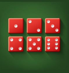 set of red dice vector image vector image