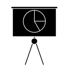 Silhouette business presentation chart finance vector