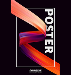 abstract flow poster brochure for advertising vector image