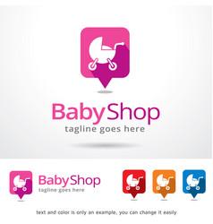 baby shop symbol template design vector image
