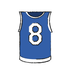 basketball shirt icon image vector image