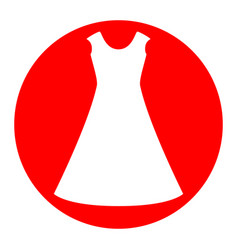 beautiful long dress sign white icon in vector image