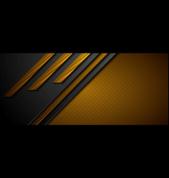 black and brown abstract tech geometric background vector image