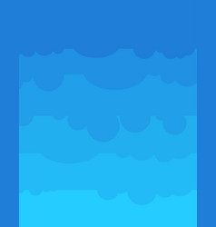 blue sky cartoon style nature background vector image