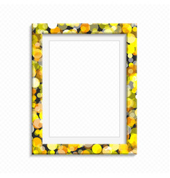 Bright realistic photo frame vector