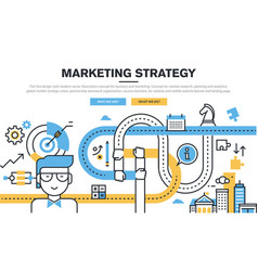 business and marketing vector image