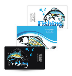 business card for fishing set vector image