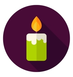 Candle Fire Circle Icon vector image