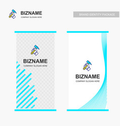 company bill board design with hammer logo vector image