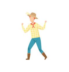 Cowboy dancing at folklore party festa junina vector