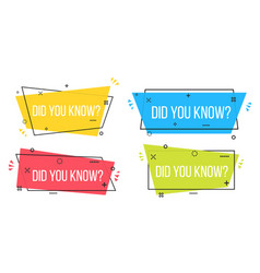 Creative of did you know vector