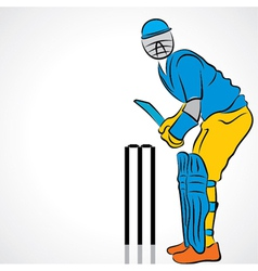 cricket player vector image