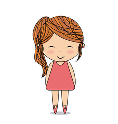 cute girl design vector image