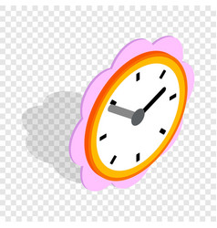 Daisy clock isometric icon vector