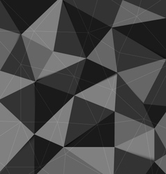 Dark grey polygon abstract triangle background vector