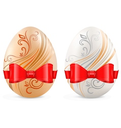 decorated eggs vector image