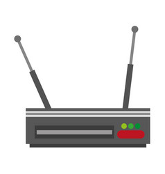 digital television decoder vector image