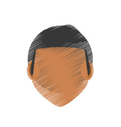 Drawing guy faceless character vector
