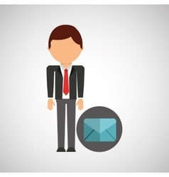Email business man suit worker icon vector