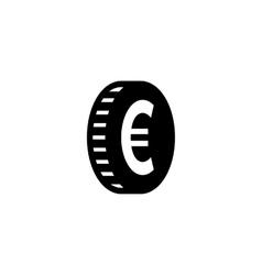 Euro coin simple icon vector
