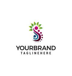 family logo design concept template vector image